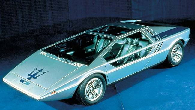 Maserati Boomerang. The car fetched nearly $900,000 in 2002; expect a few million this time.