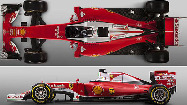 Ferrari's F1 car. The bookies have Mercedes odds on. Ferrari is at 5/1