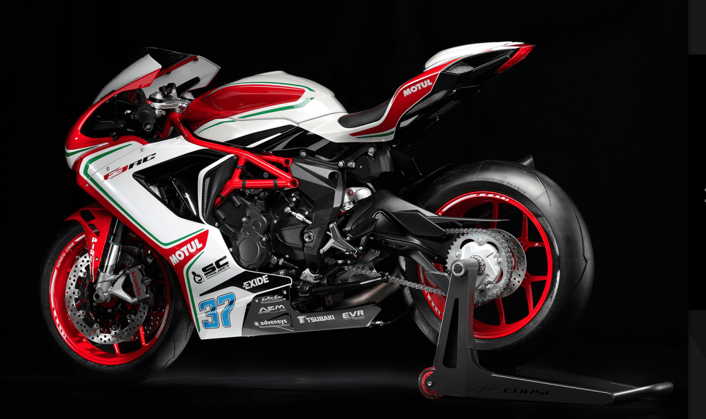 The sexiest bike in the world, the MV Agusta, priced at $31,000 drive away.